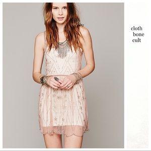✨NWT✨Free People 🌼 Starry Night Beaded Slip DRESS